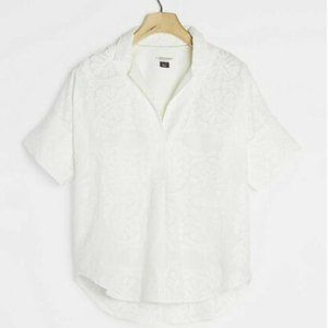 NEW Anthropologie solene embroided blouse